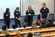 Student Ambassadors delivering a presentation